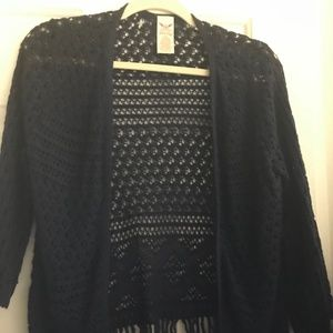 Navy Blue Lacy Light Weight Cardigan